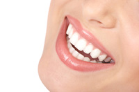 Women smiling, showing nice teeth